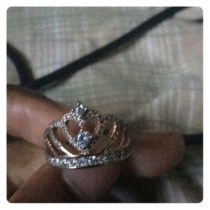A rose gold ring